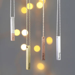 Personalised Bar Necklace - gifts for sisters