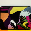 Laptop Sleeve With Abstract Feather Print, More Colours