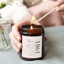 Any Age Personalised Candle Gift