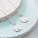 Personalised Sterling Silver Birthstone Disc Necklace