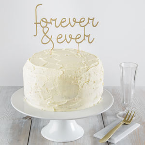Forever And Ever Cake Topper