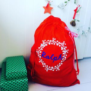 Personalised Large Christmas Sack - stockings & sacks