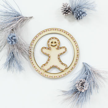 Christmas Gingerbread Man Wreath Kit
