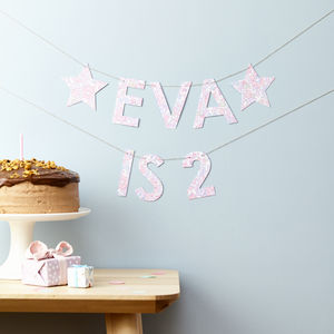 Personalised Birthday Age Garland