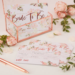 Advice For The Bride To Be Hen Party Cards - table decorations