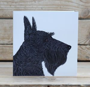 Scottish Terrier Dog Card