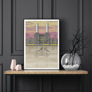 Battersea Power Station Sunset Architectural Print