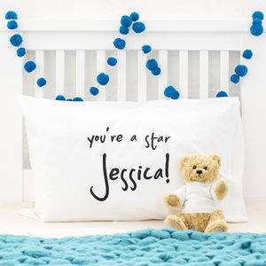 Personalised Message Pillow Case - baby & child sale