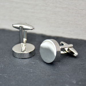 Solid Disc Personalised Cufflinks - personalised jewellery