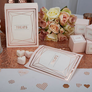Blush Rose Gold Treat Bags - wedding favours