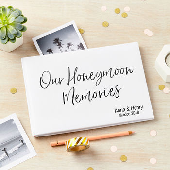 Personalised Honeymoon Memories Album Journal