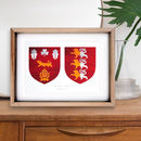 Personalised Hand Painted Double Family Coat Of Arms