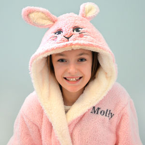 Personalised Soft Pink Rabbit Dressing Gown