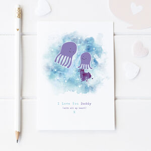 With All My Heart Personalised Father's Day Card