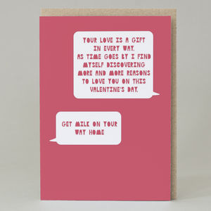 Your Love Is A Gift… Get Milk' Text Card