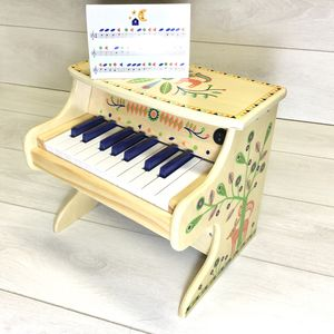 Wooden Toy Electric Piano - musical toys