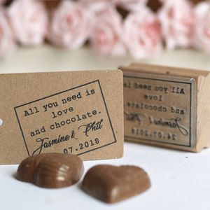 All You Need Is Love And Chocolate Rubber Stamp - wedding stationery