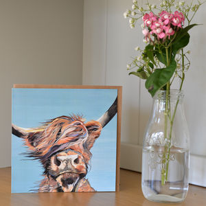 Gone With The Wind Highland Cow Greetings Card - blank cards