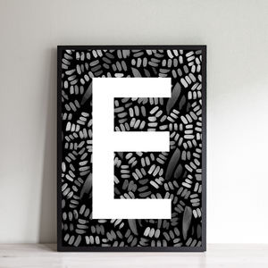 Personalised Batik Initial Print - children's room