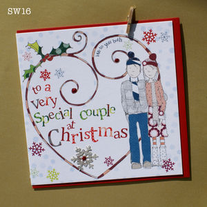 Christmas Card For A Special Couple - winter sale