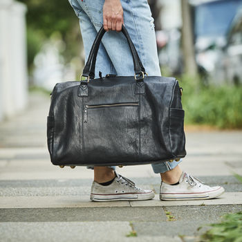 Leather Weekend Bag 'The Super Luxe'