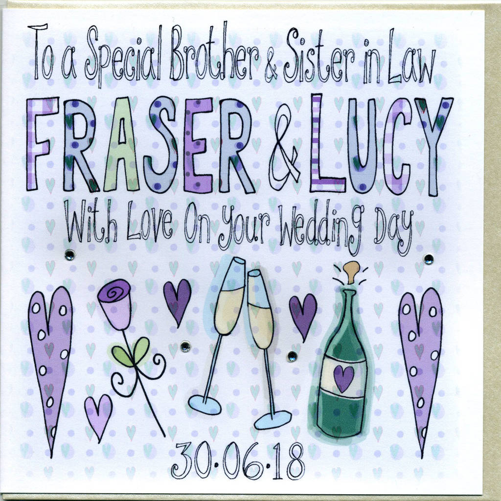 Personalised Special Brother Wedding Card