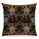 Tropical Garden Cushion In Luxury Velvet + Waterproof
