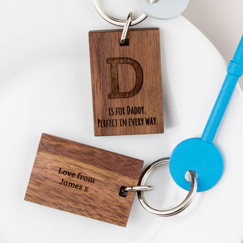Personalised Fathers Day D Is For Daddy Keyring