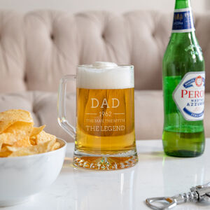 Personalised Beer Tankard Engraved Pint Glass