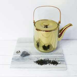 Tea Pot, Gold - winter sale