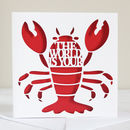 'The World Is Your Lobster' Card