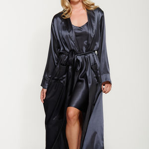 Long Silk Robe - women's fashion