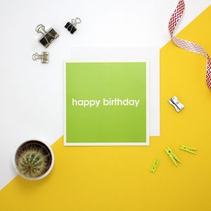 'Happy Birthday' Birthday Card - sale