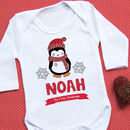 Personalised 'First Christmas' Penguin Vest