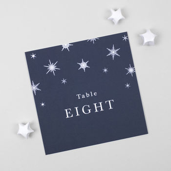 Winter Table Number Cards Pack
