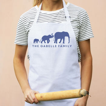 Personalised Elephant Family Apron
