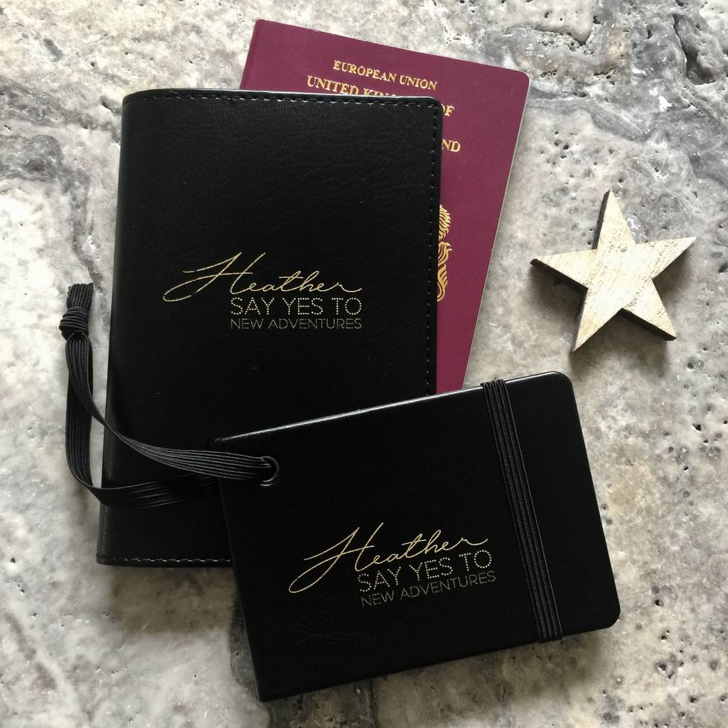 Personalised Adventures Luggage Tag And Passport Set