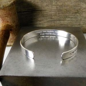 Handmade Men's Solid Silver Bracelet - for him