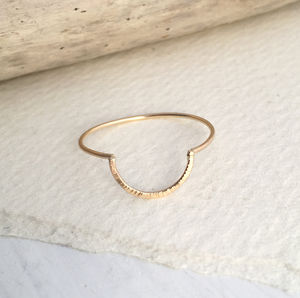 Half Moon Skinny Ring - contemporary jewellery