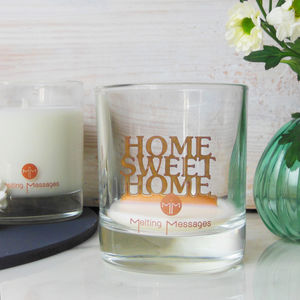 'Home Sweet Home' Hidden Message Scented Candle