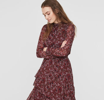 Camille Floral Long Sleeve Dress