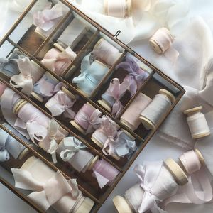 Silk Ribbon Gift Bobbin - ribbon & bows