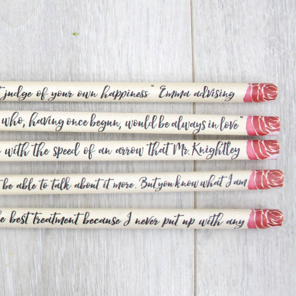 Quotes Jane Austen Personalised Emma Jane Austen Quote Pencilssix0Six Design