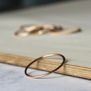 Skinny Stacking Ring Rose Gold Fill - women's jewellery