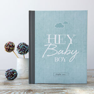 Baby Journal And Record Book For Boys - baby shower gifts
