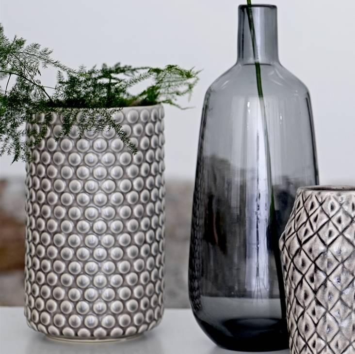 grey bloomingville stoneware vase by peastyle. Black Bedroom Furniture Sets. Home Design Ideas