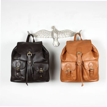 Nina Oiled Leather Rucksack