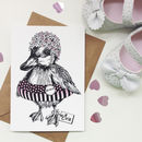 Personalised Pink Duckling Greeting Card