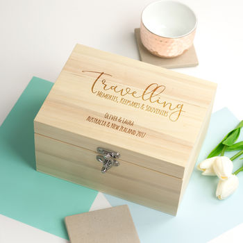 Personalised Travelling Keepsake Box