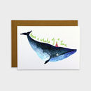 Birthday Whale Card